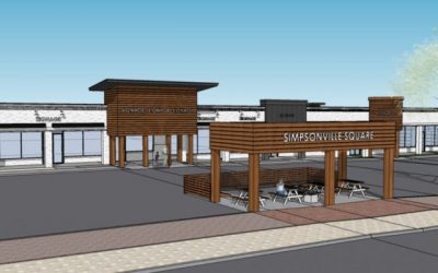 Re-branded downtown Simpsonville shopping center to feature new restaurant, outdoor seating space